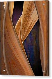 Molten Wood Acrylic Print