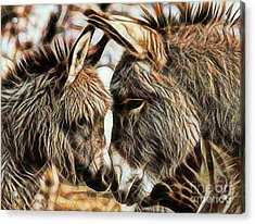 Mom And Child Acrylic Print by Marvin Blaine