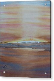 Acrylic Print featuring the painting Moment By The Lake by Joel Deutsch