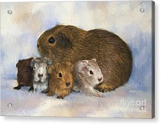 Mommy With Children Acrylic Print