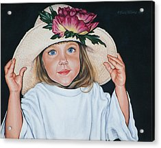 Acrylic Print featuring the painting Mommy's Hat by Penny Birch-Williams