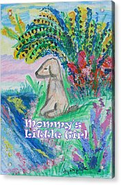 Mommy's Little Girl Acrylic Print by Diane Pape