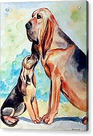 Mom's Day - Bloodhound Acrylic Print