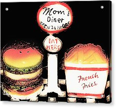 Mom's Diner - Open 24 Hours Acrylic Print by Steve Ohlsen
