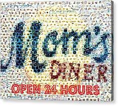 Moms Diner Food Mosaic Acrylic Print by Paul Van Scott