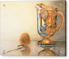 Mom's Orange Juice Pitcher Acrylic Print by Charlotte Yealey