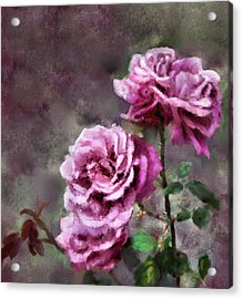 Acrylic Print featuring the digital art Moms Roses by Susan Kinney