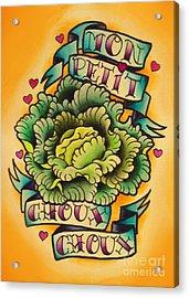 Mon Petit Choux Choux Acrylic Print by Lauren B