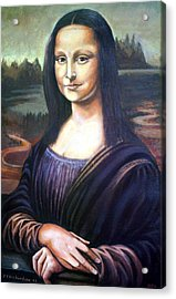 Mona Liisa Acrylic Print by James Richardson