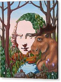 Mona Lisa . Earth Acrylic Print