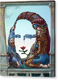 Mona Lisa. Love Acrylic Print