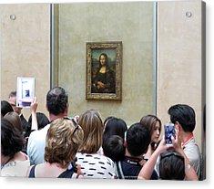 Mona Lisa Mania Paris France Louvre Gallery Acrylic Print by Richard Singleton