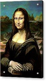 Mona Lisa My Version Acrylic Print