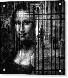 Mona Lisa  #monalisa #cage #art Acrylic Print