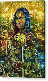 Acrylic Print featuring the mixed media Mona by Tony Rubino