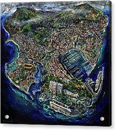 Monaco Acrylic Print by Antonio Ortiz