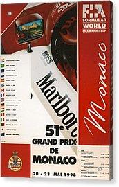 Monaco F1 1993 Acrylic Print