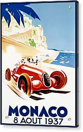 Monaco Grand Prix 1937 Acrylic Print by Georgia Fowler