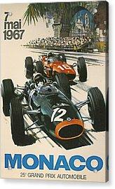 Monaco Grand Prix 1967 Acrylic Print