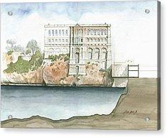 Monaco Oceanographic Museum Acrylic Print by Juan Bosco