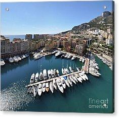 Acrylic Print featuring the photograph Monaco Port De Fontvieille  by Yhun Suarez
