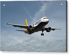 Monarch Airlines Airbus A320-214 Acrylic Print