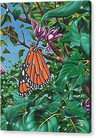 Acrylic Print featuring the painting Monarch Muse by Joe Burgess