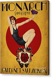 Monarch Wine A Vintage Style Ad Acrylic Print by Cinema Photography