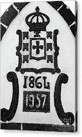Monarchy Symbols Acrylic Print by Gaspar Avila