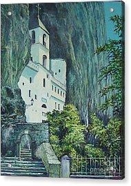 Monastery Ostrog Montenegro Acrylic Print by Sinisa Saratlic