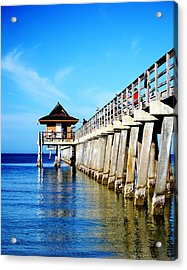 Monday Morning At Naples Pier Acrylic Print