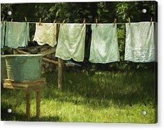 Monday Was Wash Day Acrylic Print
