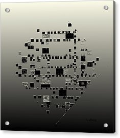 Acrylic Print featuring the digital art Mondrian Plaster by David Bridburg