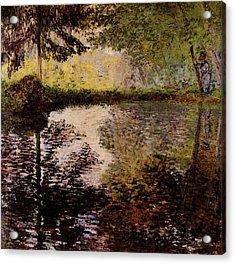 Monet Claude Pond At Montgeron Acrylic Print by Claude Monet
