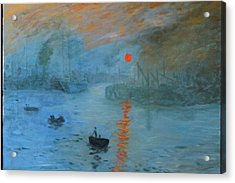 Monet Sunrise By Dg Acrylic Print