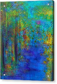 Monet Woods Acrylic Print by Claire Bull