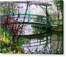 Monet's Bridge Acrylic Print by Jim Hill