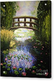 Monet's Bridge Acrylic Print