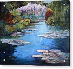 Monet's Garden In Giverny Acrylic Print