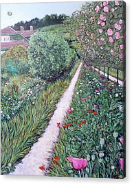 Monet's Garden Path Acrylic Print by Tom Roderick