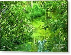 Monet's Green Garden Acrylic Print by Loriannah Hespe