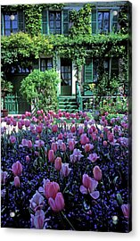 Monet's House With Tulips Acrylic Print by Kathy Yates
