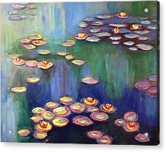 Monet's Lily Pads Acrylic Print