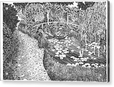 Monet's Paradise Acrylic Print by Thomas  Ferguson
