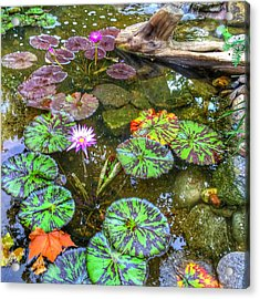 Monet's Pond At The Fair Acrylic Print