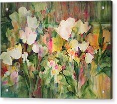 Monet's Tulips Acrylic Print