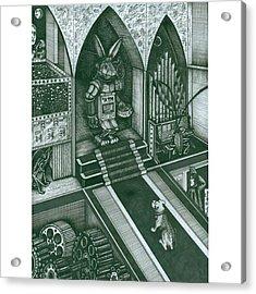 Money Bunny  #electrickoolaidart Acrylic Print