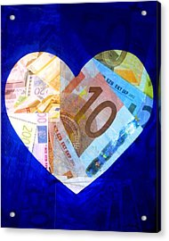 Money Collage I Acrylic Print by John  Nolan