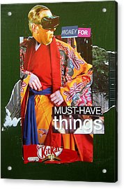 Money For Must Have Things Acrylic Print by Adam Kissel