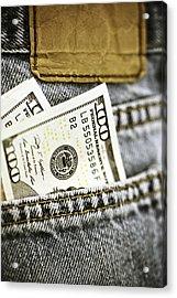 Money Jeans Acrylic Print